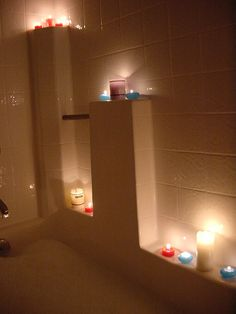 Can't wait to do this with candles in different shades of the same color...