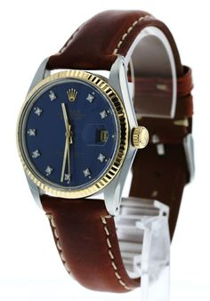 Rolex Datejust Factory Diamond Dial Ref 16013 Rolex Watches For Sale, Diamond Watches, Vintage Rolex, Rolex Datejust, Omega Watch, Nyc, Store, Accessories