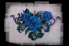 blue rose tattoo | Blue Rose Tattoo Foot Flower Cross Tribal Samurai