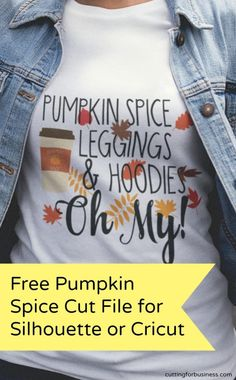 Free Fall Pumpkin Spice Cut File for Silhouette Cameo or Cricut Explore Air 2 - by cuttingforbusiness.com