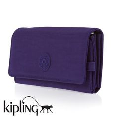 Kipling Wallets - Kipling Brownie Wallet - Flash Blue - I have about six of these in different colours. The only purses I can get to take all my junk.