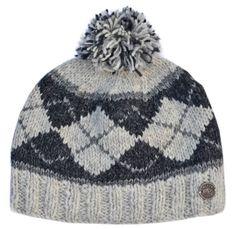 Half fleece lined pure wool Highland bobble hat Pale grey Bobble Hats e75767eceb19