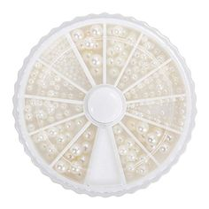 EFT 600 pcs Gorgeous 3D Round Ivory Cream White Mixed Size Nail Polish Art Pearl Wheel Set For Women Girls ** Be sure to check out this awesome product. Note:It is Affiliate Link to Amazon.
