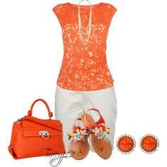 """""""Orange"""" by traceyj12 on Polyvore"""