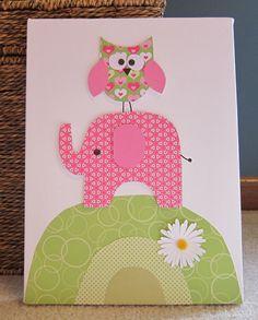 Children's Room Canvas Art Nursery decor  11 by StephDillonDesigns, $30.00