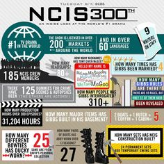 An impressive by-the-numbers look at 300 episodes of 'NCIS' Ncis Series, Ziva And Tony, Ncis Gibbs Rules, Ncis Cast, 90s Tv Shows, Michael Weatherly, Thing 1, Ex Wives, Me Tv