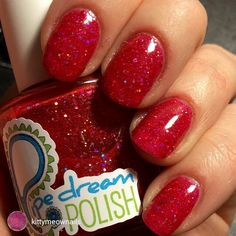 repost via @instarepost20 from @kittymeownails I love these Pipe Dream Polish glitter jellies! This is Red Light with a Sally Hansen gel coat. It's like ruby slippers on my fingers! #pipedreampolish #nails #nailpolish #polish #polishaholic #glitter #sallyhansen #instarepost20 www.pipedreampolish.com
