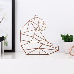 Origami Figur Bär sitzend aus Holz in vielen verschiedenen Farben erhältlich.