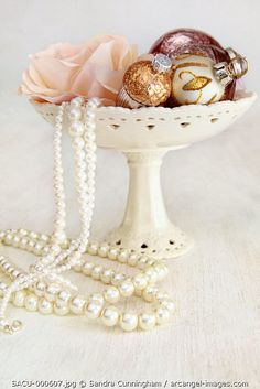 www.arcangel.com - holiday-ornaments-in-bowl-with-rose