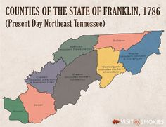 The Lost State of Franklin: How 8 Counties in East Tennessee Almost Became America's State Us History, Family History, American History, East Tennessee, Nashville Tennessee, Franklin Tennessee, 12 Tribes Of Israel, By Any Means Necessary, National Symbols