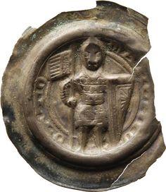 Brakteat Otto, Meissen, Markgraf (1125-1190) Münzherr Meissen, o.J. (1156-1190) Münzkabinett Material and Technique Silber, geprägt, ausgebrochen Measurement Durchmesser: 24,3 mm, Gewicht: 0,428 g