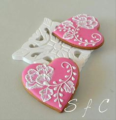 Ideas Cupcakes Decoration Pink Decorated Cookies For 2019 Valentine's Day Sugar Cookies, Fancy Cookies, Heart Cookies, Iced Cookies, Cute Cookies, Valentines Day Cookies, Holiday Cookies, Summer Cookies, Valentine Nails