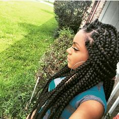 """Loving the size of these box braids, we called them """"Dojie Braids"""" back in the day! http://www.shorthaircutsforblackwomen.com/natural_hair-products/ Wanna light up your life ? Try change your hair color ! Shop human hair extensions from latesthair Choose what you like or DIY whatever you want!"""