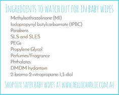 ingredients to watch out for baby wipes