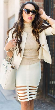 Cream On Beige Fall Streetstyle women fashion outfit clothing stylish apparel @roressclothes closet ideas