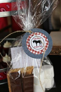 S'mores kit party favor - love this idea!