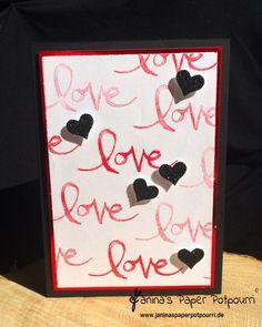 jpp - love, love, love you card / Stampin' Up! Berlin / Watercolor Words www.janinaspaperpotpourri.de