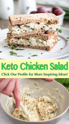 Easy Salad Recipes, Chicken Salad Recipes, Wrap Recipes, Low Carb Recipes, Chicken Salad Sandwiches, Low Fat Chicken Recipes, Low Carb Chicken Salad, Salad Chicken, Low Carb Wraps