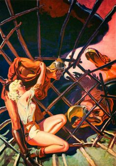 Dark Roasted Blend: Great Space & Pulp Art by Norman Saunders
