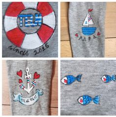 Customized cardi nautical
