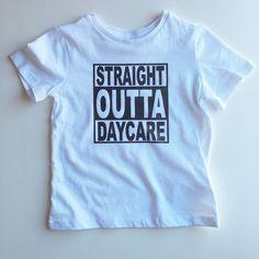 Straight Outta Daycare - Unisex Toddler T-Shirt - Trendy - Modern - Kids - Photoshoot by LittlePiggyToesCo on Etsy