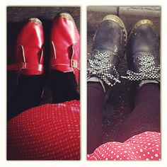 It can be tricky choosing the right clogs! This is Yorkshire roulette-red or black ;)