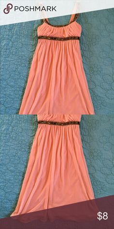 Short Pink Dress I bought this from another Posher or Vintie to wear in a wedding. It was sold to me with a couple tiny stains that are not noticeable with the folds of the dress. It worked perfectly for me! City Studio Dresses Wedding