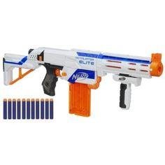 Nerf N-Strike Elite Retaliator Blaster Soft Dart Rifle Gun Toy 98696 New! Toys R Us, Kids Toys, Toddler Toys, Nerf Gun, Arma Nerf, Pistola Nerf, Mega Series, Shopping, Firearms
