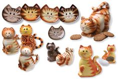 kitty cat plate set & more.  want!