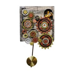 Steampunk-Clock-with-Clock-Keeper-in-Daylight.png ❤ liked on Polyvore featuring steampunk