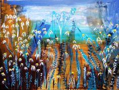 Blumenwiese 60 x 80 cm Acryl auf Leinwand