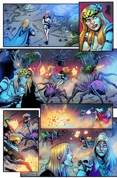 Coven Grimm Fairy Tales #5 Zenescope Entertainment Written by: Zach Calig Art: Diego Galindo Color: Hedwin Zaldivar Letters: Charles Pritchett  Editor: Ralph Tedesco Production & Design: Christopher Cote & Joi Dariel  #color #colorart #colorful #coloring #colorist #colors #comic #comicbook #comicbooks #comicpage #comics #coven #fantasycreature #gft #grimmfairytales #hz #pages #pageviews #colorista #grimmtales #zenescope #comiccomics #colorartist #zenescopecomics #zenescopeentertainment