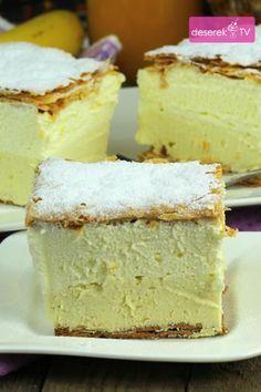 Kremówka Przepis Idealny Custard Desserts, No Bake Desserts, Delicious Desserts, Dessert Recipes, Polish Desserts, Polish Recipes, Sweets Cake, Cupcake Cakes, Eclairs