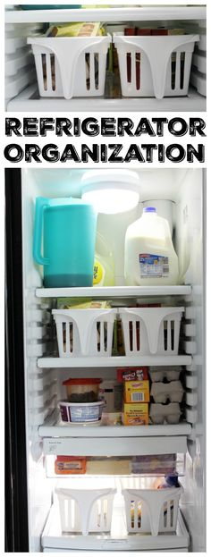 The best ideas for refrigerator organization! Perfect for organizing your kitchen! The best ideas for refrigerator organization! Perfect for organizing your kitchen! Refrigerator Organization, Kitchen Organization, Organization Hacks, Garden Organization, Country Chic Cottage, Farmhouse Style, Drawer Organisers, Organizing Your Home, Organizing Tips