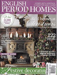 English Period Homes magazine Christmas Holiday decor Sweet treats Gift ideas