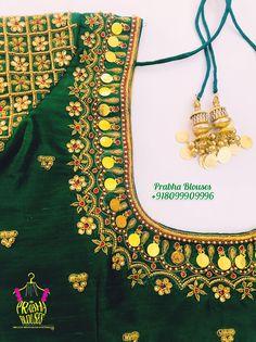 Simple Blouse Designs, Stylish Blouse Design, Blouse Neck Designs, Wedding Saree Blouse Designs, Pattu Saree Blouse Designs, Fabric Painting On Clothes, Banarsi Suit, Zardosi Work Blouse, Embroidery Blouses