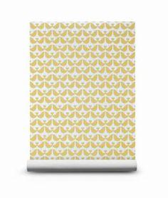 Isak wallpaper lovebird mustard - per roll Yellow Pattern, Small Apartments, Love Birds, Scandinavian Design, Interior And Exterior, Mustard, Home Goods, Creations, Cool Stuff