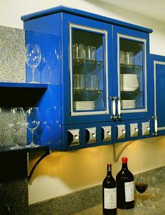 Allmilmo Long Island at Kitchen designs by Ken Kelly Classic Art Model 53 2 Cobalt Blue