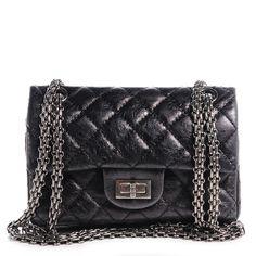 Fashionphile - CHANEL Glazed Calfskin 2.55 Reissue 224 Flap Black