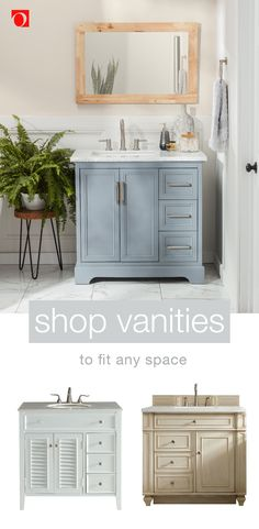 Browse an impressive selection of stylish bathroom furniture and decor at Overstock. We have thousands of products, including vanities in every size, all at the lowest prices. Shop today to find everything you need to refresh the style of your bathroom for less. bathroom #bathroomideas #bathroomdecor #vanities #bathroomvanity