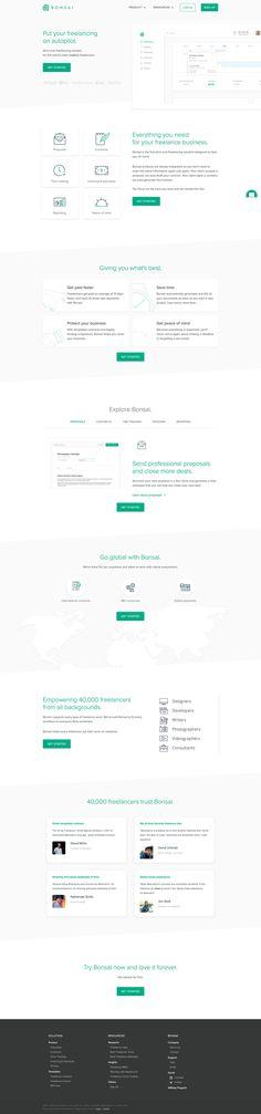 Bonsai Landing Page Design