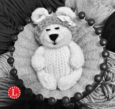 Loom knit mini teddy bear