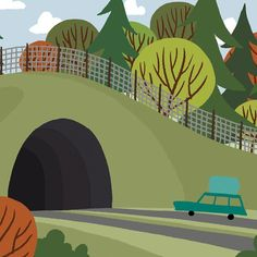 We're Going Camping - Tunnel - Deep inside the park, cars travel through wildlife underpasses protecting the animals from cars. Camping road trip wall art #campingroadtrips #weregoingcamping #letsgocampingnow #letsgocampingtoday #Iwishiwascamping #tentinglife #Tentcampinglife #campingaddiction #campingadventure #Campinglifeforme #campingart #campingartwork