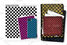 seamless checkered mod pattern. by Sweetmango on @creativemarket trendy, mod, classic, bw, checkered, flag, board, chessboard, chered, cool, seamless, pattern, vector, eps, card, design, wallpaper, background, backdrop,  fabric, curtain, wrapping paper, seamfree, tileable, texture,  textile, patterns, textures, pop, hipster, nerdy, pajama, wrapping, paper, digital, printables,