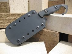OKT/LCK Tactical Knife in its sheath... designed with much input from Agt Radke.
