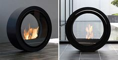 Modern Gas Fireplaces Ideas from Attika Feuer Small Space Living, Living Spaces, Living Rooms, Portable Fireplace, Outdoor Fireplace Designs, Appartement Design, Design Furniture, Hearth, Modern Decor