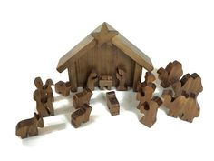 Wooden Nativity Set. Get ready for Christmas at your house with this neat Manger Scene. The Wooden Nativity Set will beautifully accent your mantle and help you remember the Gift of the Christ-Child.