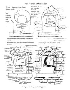 Printable How To Draw A Mission Bell Drawing Worksheet