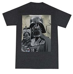 Star Wars Men's Darth Vader Taking Cell Phone Selfie T-Shirt (Large, Dark Grey Heather) - Brought to you by Avarsha.com