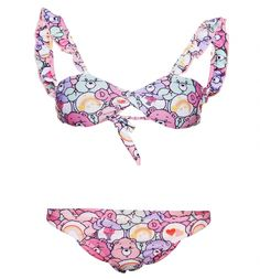 Not only does our #CareBears #Bikini feature some of the cutest retro cuddlies around like Cheer Bear, Love-A-Lot Bear, Wish Bear and Share Bear, but its twisted top and cute strap frills give it a playful vintage-style fit, too! xoxo